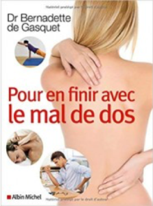 Bernadette de Gasquet livre mal au dos